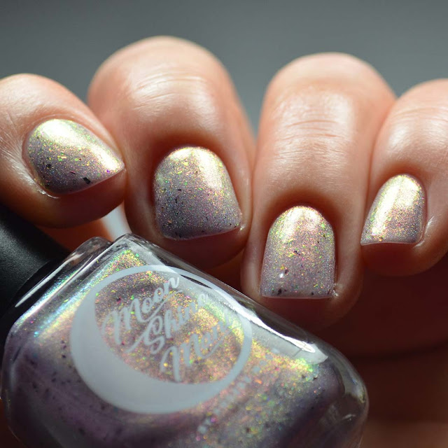lilac color shifting shimmer nail polish swatch