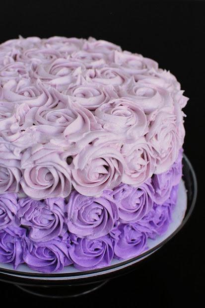 Purple Ombre Cake Beantown Baker