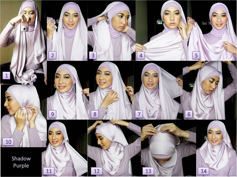 29 Gambar Menarik Tutorial Hijab Pesta Pipi Tembem Terlengkap