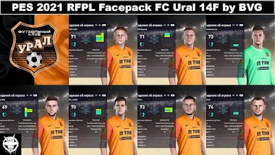 PES 2021 RFPL Facepack FC Ural 14F by BVG