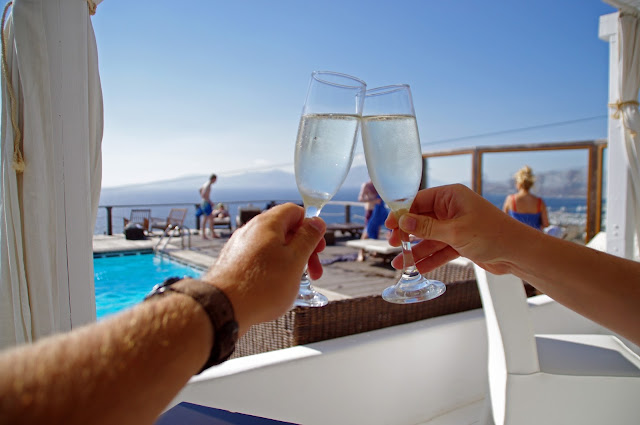 Tharroe of Mykonos Arrival Drink