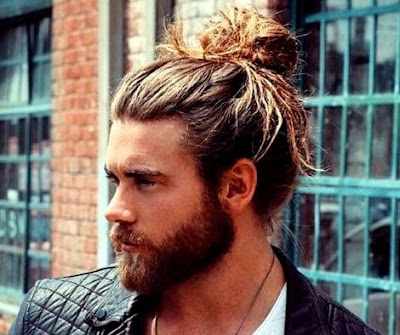 men's long hairstyle - Men Bun