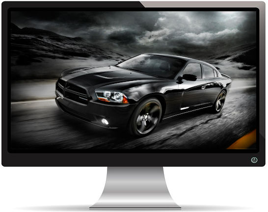 Dodge Challenger Noire - Fond d'écran en Full HD 1080p