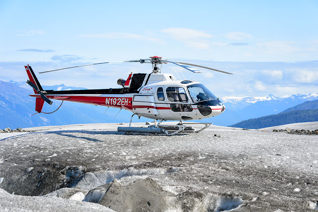 1991 Aerospatiale AS350 B2 Ecureuil Helicopter on Glacier in Alaska