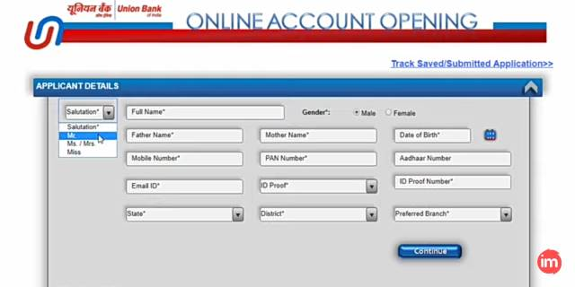 Union bank me online saving account kaise khole