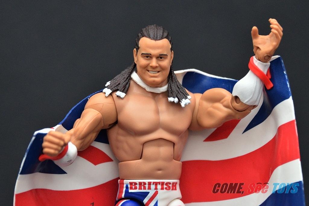 THE BRITISH BULLDOG WWE WRESTLING FIGURE MATTEL