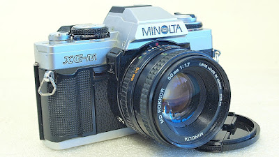 Minolta XG-M (Chrome) Body #989, Minolta MD Rokkor 50mm F1.7 #368