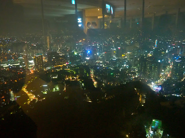 View from N Seoul Tower at night, of Seoul, South Korea