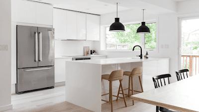 Barra de cocina moderna blanca