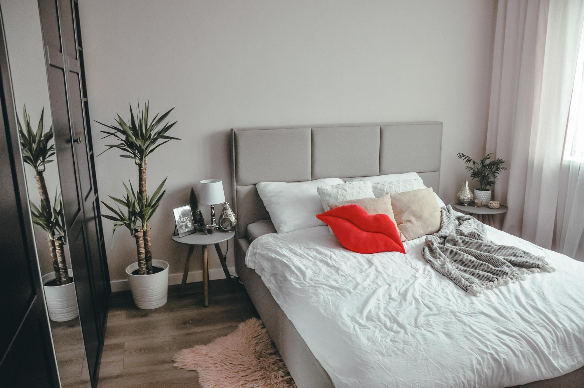 sypialnia w stylu hotelowym wnętrze ikea