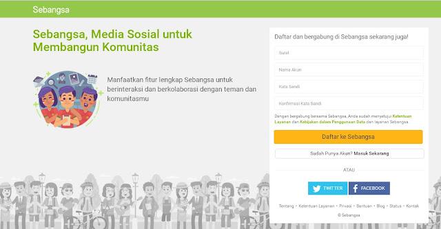 Sebangsa.com,Situs Sosial Media Buatan Indonesia