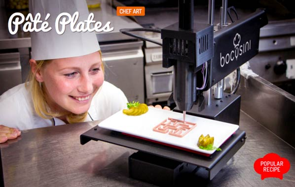 looking at 3D food Printer