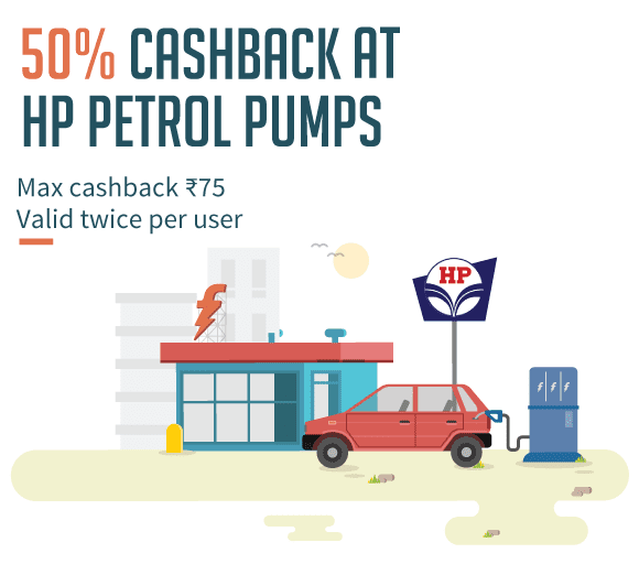 Cashback at HP Petrol Pumps with FreeCharge