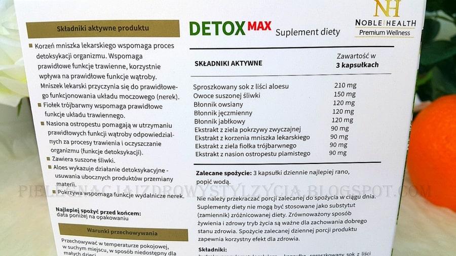 Detox Max 7 dni efekty, składniki aktywne, opinie, blog