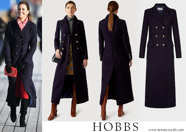 Kate Middleton in Hobbs London Bianca coat