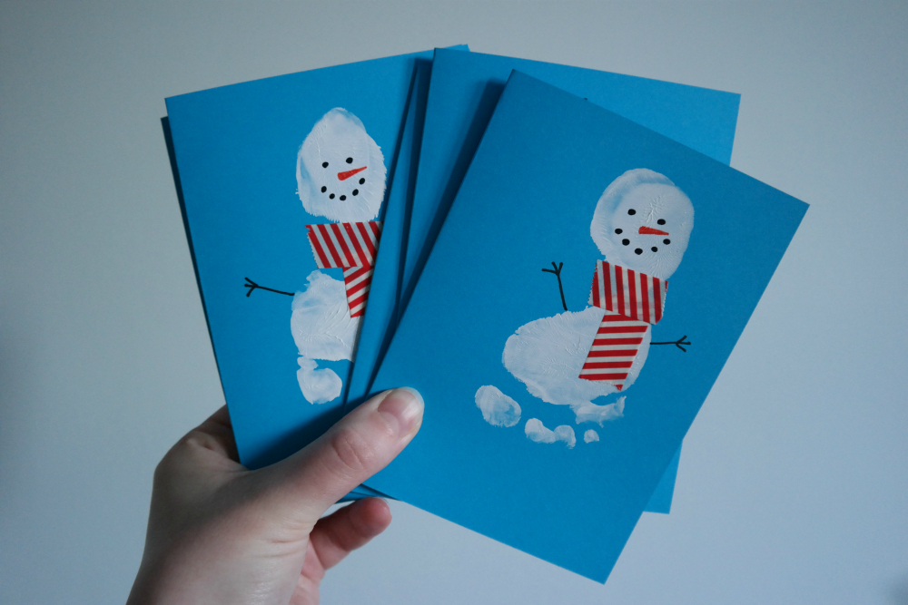 DIY: Baby's First Christmas Cards - Snowmen