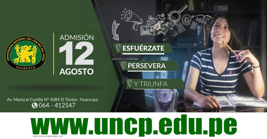 Resultados UNCP 2018-2 (12 Agosto) Lista Ingresantes - Universidad Nacional del Centro del Perú - www.uncp.edu.pe - www.uncpadmision.edu.pe