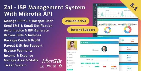 Zal v5.2.1 - ISP Management System With Mikrotik API