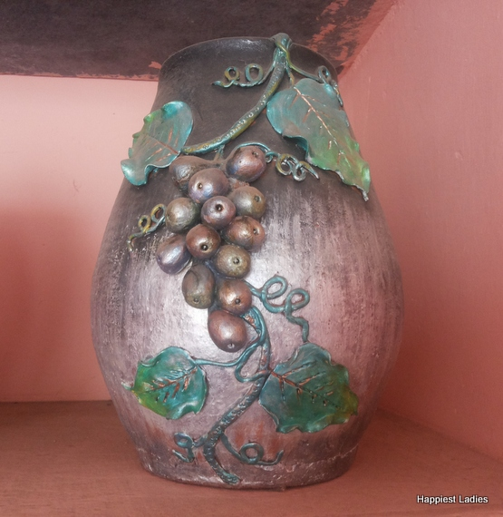 beautiful decorated vase