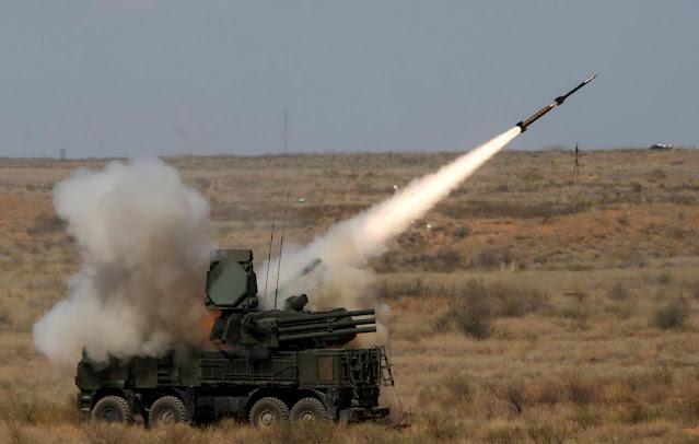 Sistem pertahanan udara Suriah di dataran tinggi Golan