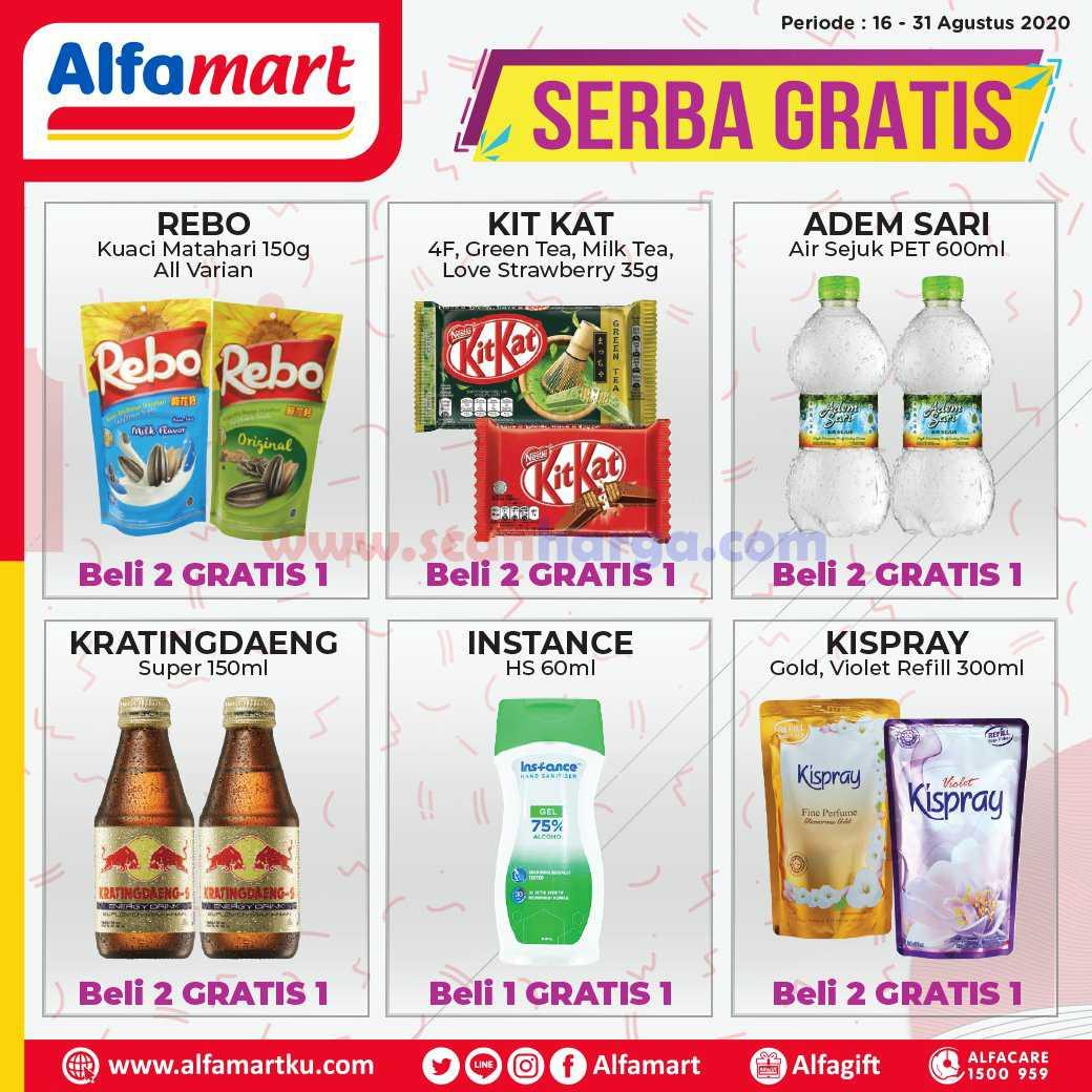 Katalog Alfamart Promo Serba Gratis Periode 16 – 31 Agustus 2020 2