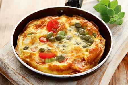 Ομελέτα με ντομάτα και τυρί κρέμα