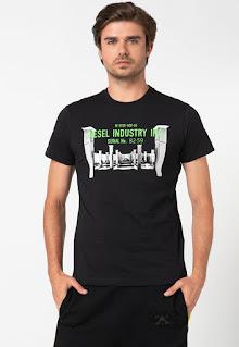 Diesel - Мъжка Тениска Diego с фотопринт