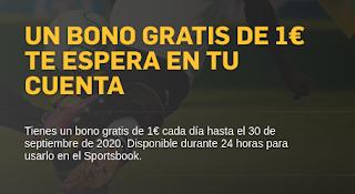 betfair bono 1€ cada dia en tu cuenta hasta 30 septiembre 2020
