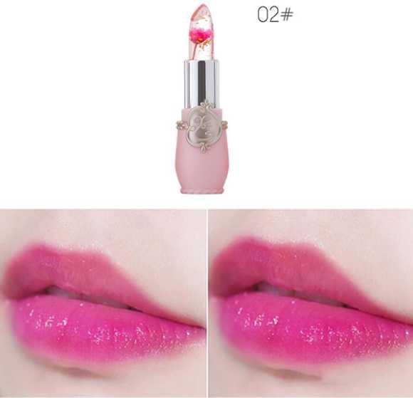 lips balm cream natural Flower Jelly Lipstick Transparent Lip Balm Long Lasting