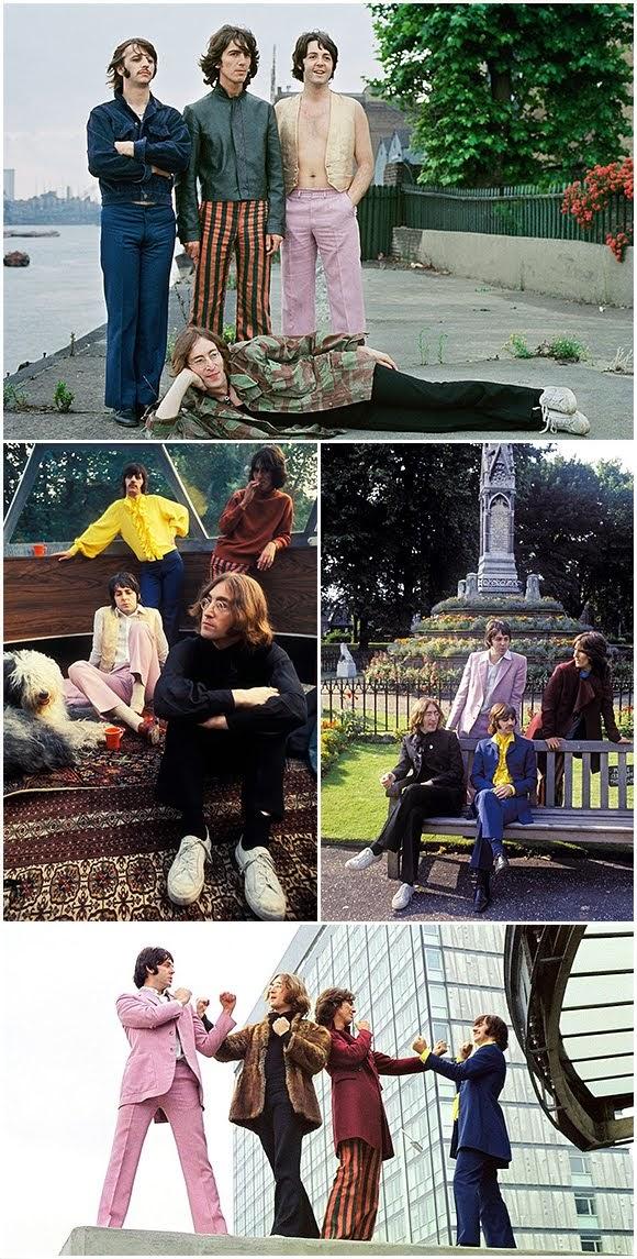 The Beatles : séance photo surnommée «Mad Day Out» (28 juillet 1968).
