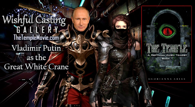 Vladimir Putin as the Great White Crane in The Temple Reptilian