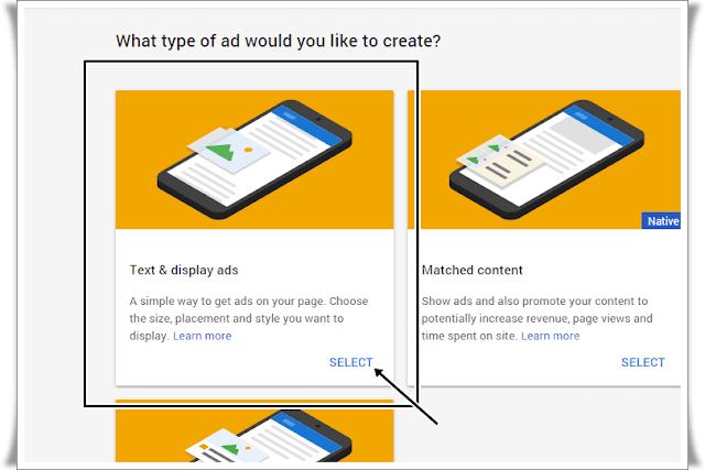 adsense text and display ads,adsense ke ads kaise banaye, how to create adsense ad units in hindi