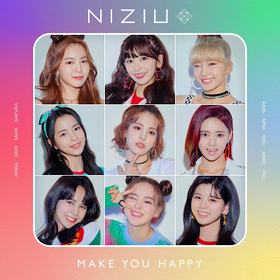 NiziU - Make you happy profile lyrics lirik 歌詞 arti terjemahan kanji romaji indonesia official english translations mini-album details tracklist pre-debut JYP Entertainment