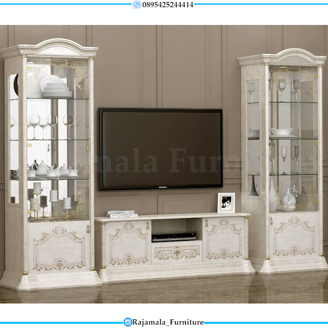 Desai Bufet TV Mewah Ukiran Jepara Classic Luxury RM-0386