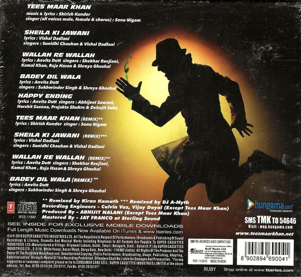 Download  Tees Maar Khan [2010-MP3-VBR-320Kbps] Review