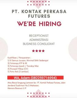 Lowongan Kerja PT. KONTAK PERKASA Makassar