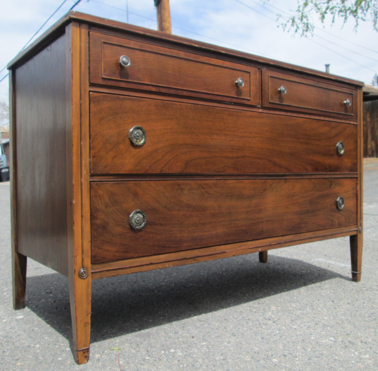 Boho chic antique walnut dresser buffet sideboard for Sideboard 2 m lang