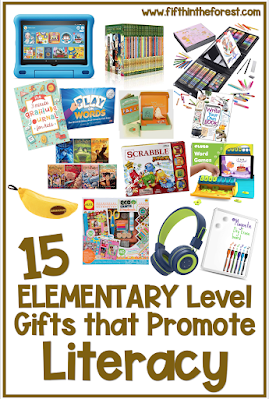 Pin Image for 15 Elementary Level Gifts that Promote Literacy