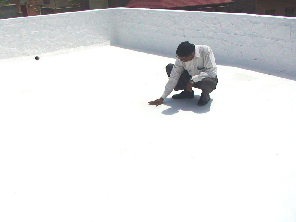 Civil at work work procedure glazed china mosaic type for Terrace waterproofing