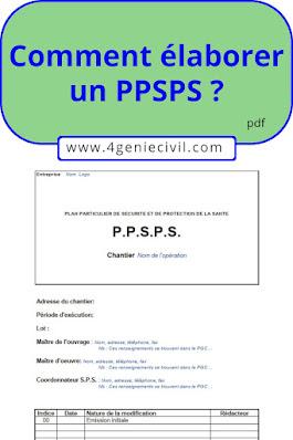 Comment remplir un ppsps ?