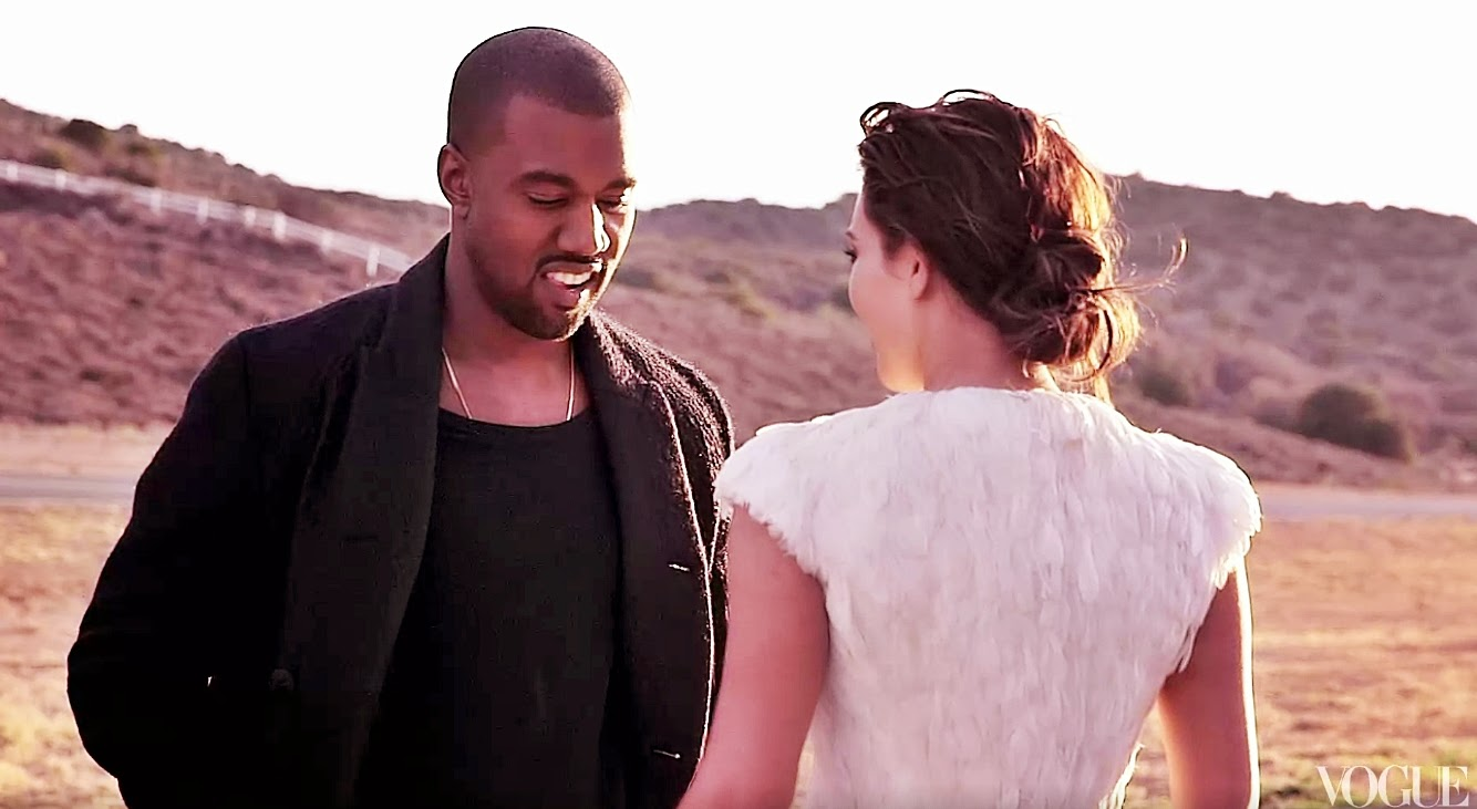 kanye west e kim kardashian na revista vogue