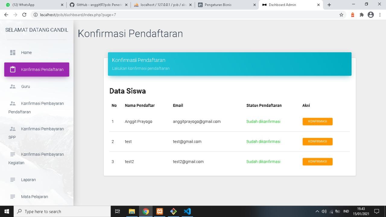 Download Source Code Penerimaan Siswa Baru