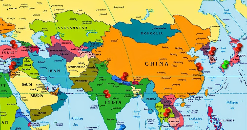 what part of asia is india in
