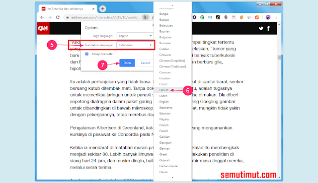 cara mengaktifkan auto translate di google chrome android