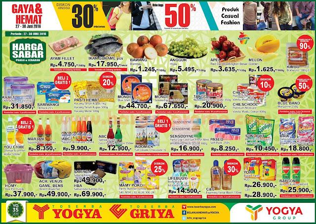 Katalog Promo Toserba Yogya Terbaru Weekday Periode 27 30 Juni 2016 Up To Date Post