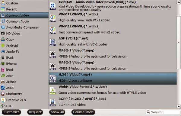 NAS video format