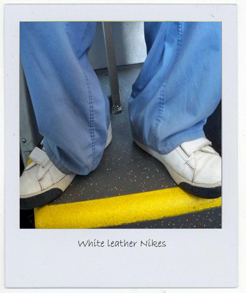 Orlando and his white leather Nikes