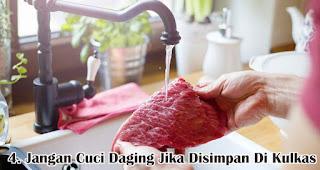 Jangan Cuci Daging Jika Disimpan Di Kulkas merupakan salah satu tips mudah mengolah daging qurban sebelum dimasak