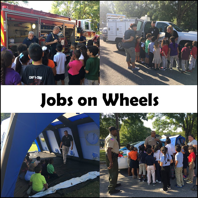 Jobs on Wheels day photos for lower elementary