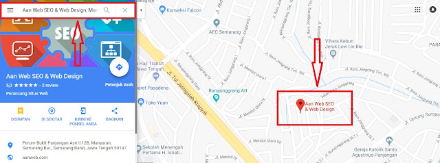 cara pasang google maps di website